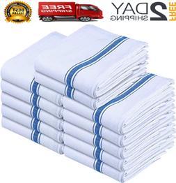 Harringdons Kitchen Dish Towels Set of 12-Tea Towels 100% Co
