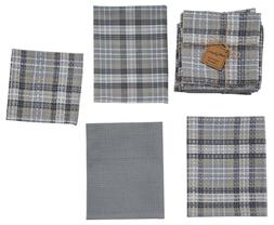 Park Designs HARTWICK Gray Plaid 3 Kitchen Dish Towels, 1 Di