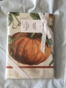 Williams Sonoma Harvest Pumpkin SET of 2 KITCHEN TOWELS New