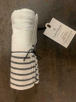 Hearth & Hand Magnolia Cream & Black Striped Flour Sack Kitc