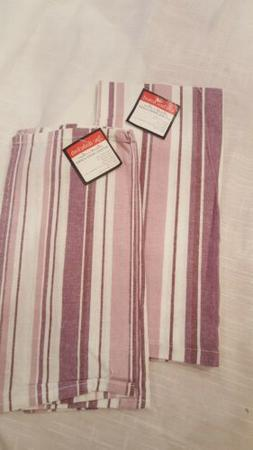 Hearth & Home Cotton Kitchen Dishclothes-Towels Set NEW Plum