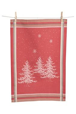 KAF Home Holiday Kitchen Towel, Winter Trees Porto Jacquard,