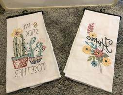 Kay Dee Designs Home and Cute Cactus Embroidered Kitchen Tow