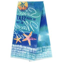 Home Collection Sentiments Coastal Kitchen Towels Let the Sa