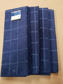 Home Collection Kitchen Towels - Navy Blue - Set of 4