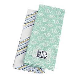 Hallmark Home Cotton Kitchen Tea Towels  Daisies and Chevron