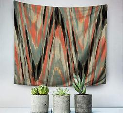 Pamime Home Decor Tapestry Christmas Ikat Pattern Abstract B