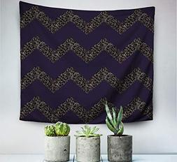 Pamime Home Decor Tapestry for Christmas Zigzag Geometric Pa