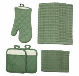 J & M Home Fashions 70056 8-Piece Solid Kitchen Towel Set, L
