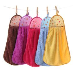 Home Kitchen Bathroom Hanging Towel Coral Velvet Cleaning So