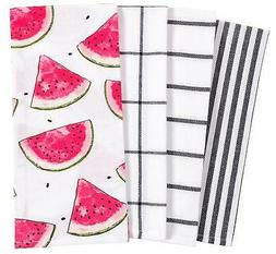 Home Pantry All Over Kitchen Dish Towel Set of 4 100% Cotton