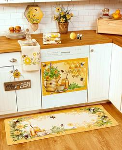 Honey Bee Kitchen Collection Towels Rug Magnet Wall Sign Bag