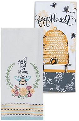 honey bee kitchen towels set