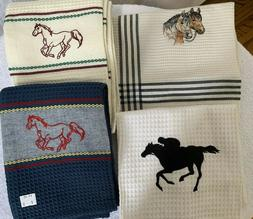 Horse Waffle Weave Kitchen Towels Assorted Design New SOLD S