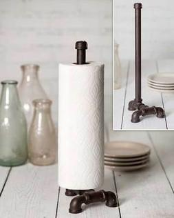 Industrial Metal Pipe Paper Towel Holder - Table / Counter T