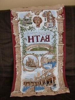 ~ITALY~ROMAN CITY OF BATH~ROYAL CRESCENT~100%COTTON~KITCHEN