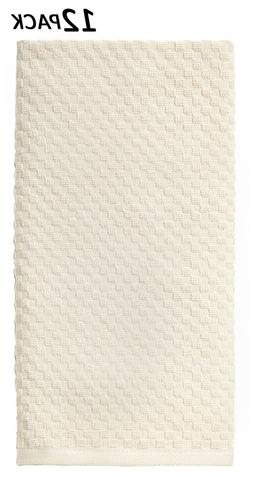 Cotton Craft - 12 Pack Ivory EuroCafe Waffle Weave Terry Kit