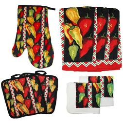 J&M Home Fashions Cotton Printed Kitchen Dish Towels, Pot Ho