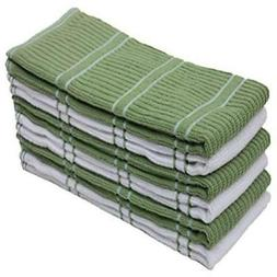 Ribbed Terry Kitchen Dish Towels  Absorbent & Durable for Wi