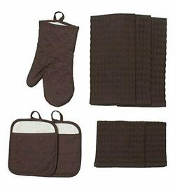 J&M Home Fashions Cotton Kitchen Dish Towels, Pot Holder and