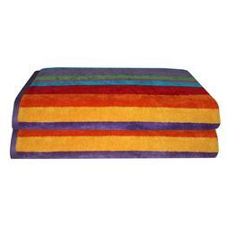 Cotton Craft - Jacquard Double Woven Velour Beach Towel 32x6