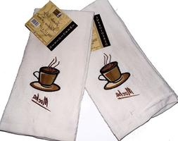 jumbo kitchen towel ivory mocha
