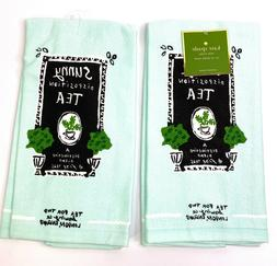 kate spade tea for two cotton kitchen