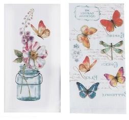 Kay Dee Designs Butterfly Garden Floral Kitchen Flour Sack T