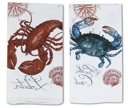 Kay Dee Designs Seafood Fest Nautical Kitchen Towel Bundle,