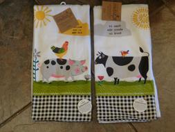 KAY DEE HOME/HERD + PIG PEN FARM CHARM TERRY KITCHEN TEA TOW