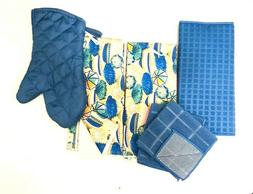 Kitchen 2 Hand Towels 2 Dishcloths Drying Mat Oven Mitt Umbr