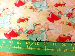 "Kitchen Colander Fabric Fat Quarter 100% premium cotton 18""X"