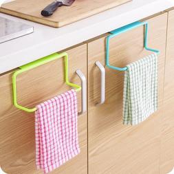 Kitchen Cupboard Towel Rack Hanging Holder Organizer Bathroo