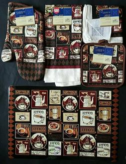 Kitchen Dining Linen Coffee Break Theme Placemats Stove Top