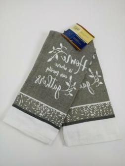 """Kitchen Dish Hand Towels """"Home is where our family gathers"""""""