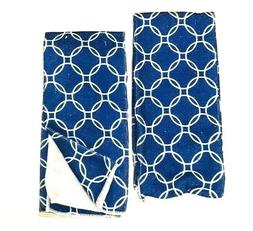 Kitchen Dish Hand Towels Set Of 2 Blue Olympic Circles Theme