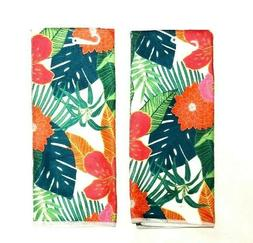 Kitchen Dish Hand Towels Set of 2 Mediterranean New Print Fl