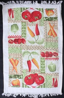 Kitchen Dish Towel Peppers & Vegetables 2 Pack Tea Towel Set
