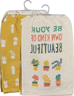 Primitives by Kathy Kitchen Dish Towel Set,  Be Your Own Kin