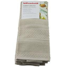 Kitchenaid Kitchen Dish Towels 3 Pack Light Brown Tan Beige