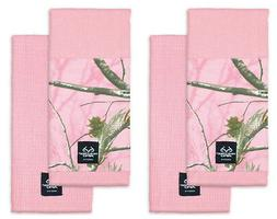 Set of 4 Kitchen Dish Towels Realtree Pink Camo ~ New