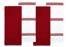 Sticky Toffee Cotton Terry Kitchen Dish Towel, 4 Pack, 28 in
