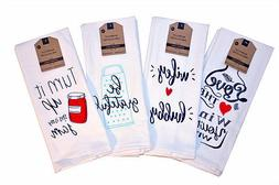 Kitchen Dish Towels Set of 2 Assorted Sayings Tea 16x28 Love