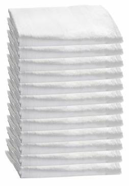HomeLabels Kitchen 12 Pack Flour-Sack Towels, 100% Pure Rung