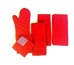 Kitchen Hand 2 Towels 2 Dishcloths Drying Mat Oven Mitt Soli