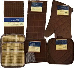 Kitchen Linens Bundle of 8 Items - Matching Kitchen Towel, O