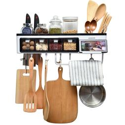 kitchen organization wall pot rack cooking holder