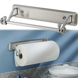 Kitchen Paper Towel Roll Holder Wall Mount Under Cabinet Rod