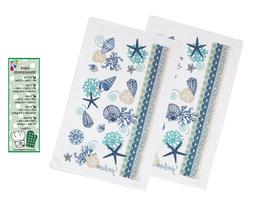 Kay Dee Designs Kitchen Printed Terry Towels, Set of 2 Blue