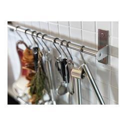 "Ikea Kitchen Rail Stainless Bar Decorative Organizer  15.75"""